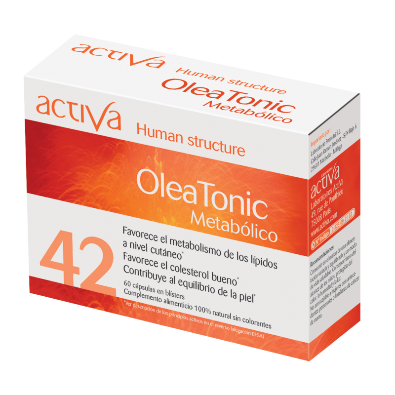 Complemento Alimenticio OleaTónic Metabólico Activa Human Structure | Produits Nutritifs